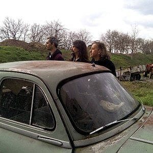 Distortion Ride - Psychedelic stoner progressive metal rock band photo | Old car