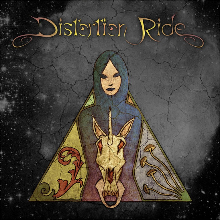 Distortion-Ride - 2017 | Psychedelic hard rock stoner metal cover art